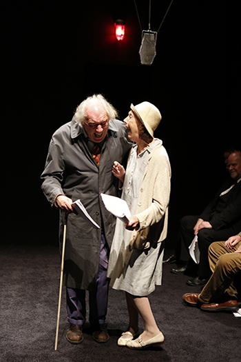 L-R: Michael Gambon and Eileen Atkins in Samuel Beckett's ALL THAT FALL, directed  by Trevor Nunn, at 59E59 Theaters. Photo by Carol Rosegg
