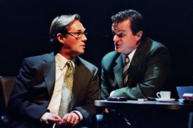 "Richard Thomas and Michael Cumpsty in Michael Frayn's ""Democracy"""