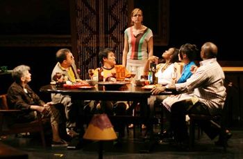 """Dinner Party,"" Target Margin Theater, The Kitchen, NYC, June 2007. Photo: Hilary McHone"