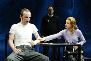 "Brían F. O'Byrne, Swoosie Kurtz (foreground), Sam Kitchin in Bryony Lavery's ""Frozen"""