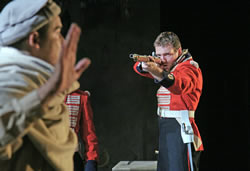 """Bugles at the Gates of Jalalabad,"" by Stephen Jeffreys, part of ""The Great Game,"" Tricycle Theatre, 2010. Photo credit: John Haynes."