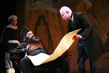 """Durand's Line,"" by Ron Hutchinson, part of ""The Great Game,"" Tricycle Theatre, 2010. Photo credit: John Haynes."