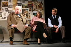 "Richard Griffiths (Hector), Frances de la Tour (Mrs. Lintott), Stephen Campbell Moore (Irwin) in ""The History Boys."" Photo: Joan Marcus"