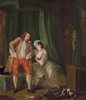 "William Hogarth, ""After,"" 1730."