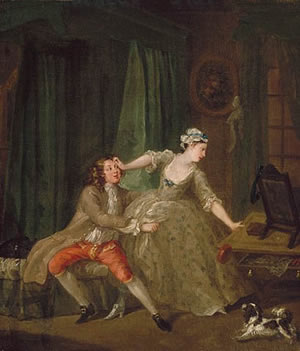 "William Hogarth, ""Before,"" 1730."