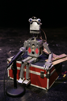 "Stanley the robot in ""The Jester of Tonga"" (2008). Photo: Richard Termine."