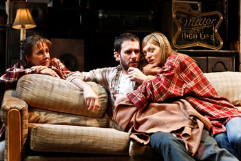 "Laurie Metcalf, Josh Hamilton, Marin Ireland in Sam Shepard's ""A Lie of the Mind,"" directed by Ethan Hawke, The New Group, 2010. Photo: Monique Carboni"