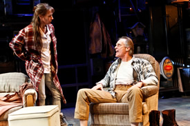 "Laurie Metcalf, Keith Carradine in Sam Shepard's ""A Lie of the Mind,"" dir. by Ethan Hawke, The New Group, 2010. Photo: Monique Carboni."