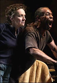 "Phyllis Frelich and Andre De Shields in Mark Medoff's ""Prymate"""