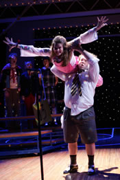 "Celia Kennan-Bolger (Olive) and Dan Fogler (William) in ""The 25th Annual Putnam County Spelling Bee."" Photo credit: Joan Marcus"