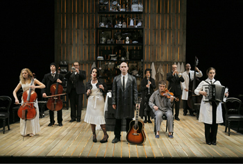 "The cast of ""Sweeney Todd,"" directed by John Doyle, Eugene O'Neill Theatre. Photo: Paul Kolrik"