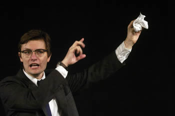 "James Urbaniak in Will Eno's ""Thom Pain (based on nothing)"" Photo credit: Carol Rosegg"