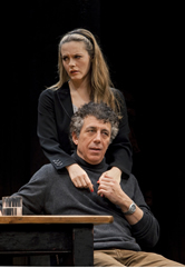 "Alicia Silverstone and Eric Bogosian in Donald Margulies' ""Time Stands Still,"" dir. by Daniel Sullivan, Samuel J. Friedman Theatre, 2010. Photo: Joan Marcus."