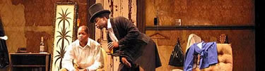 "Harold Perrineau and Larry Gilliard, Jr. in ""Topdog/Underdog"" at Seattle Rep"